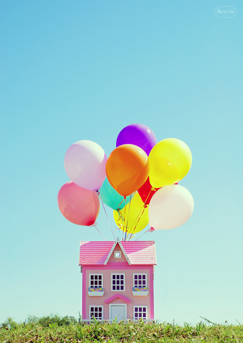 balloon print + movie UP / ann kelle