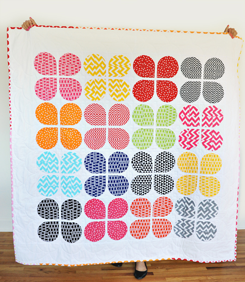 retro flower quilt + remix fabric / ann kelle