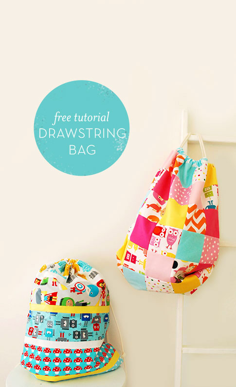 drawstring bag sewing tutorial / ann kelle