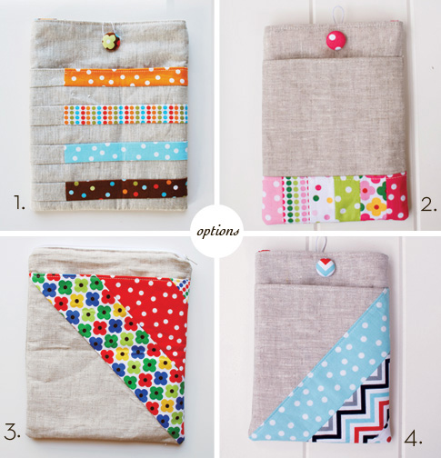 ipad, kindle and nook sleeve sewing pattern tutorial