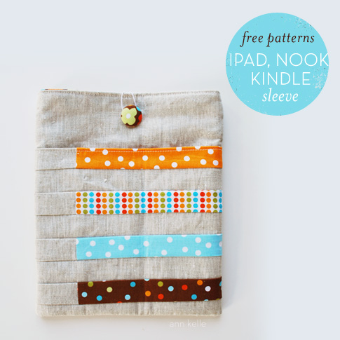 ipad, kindle, and nook sleeve sewing tutorial