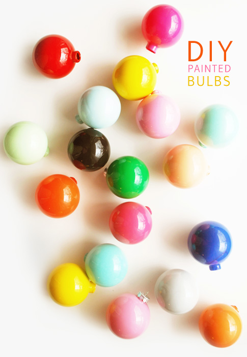 DIY painted bulbs / ann kelle