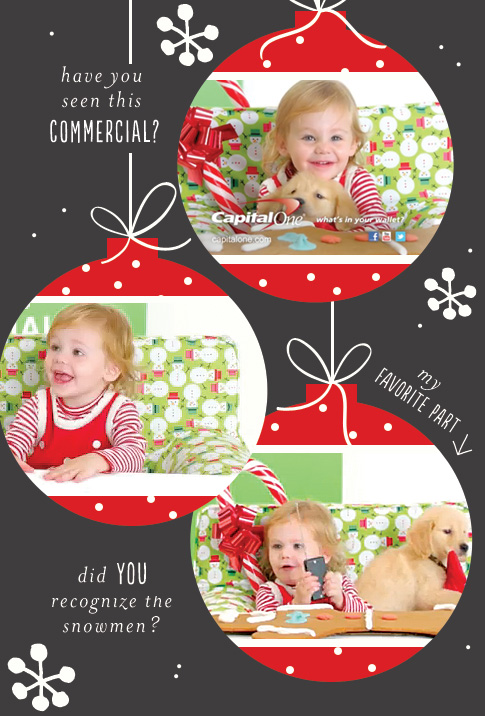 commercial with snowmen fabric / ann kelle