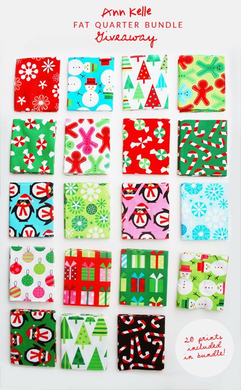 christmas fat quarter bundle giveaway / ann kelle