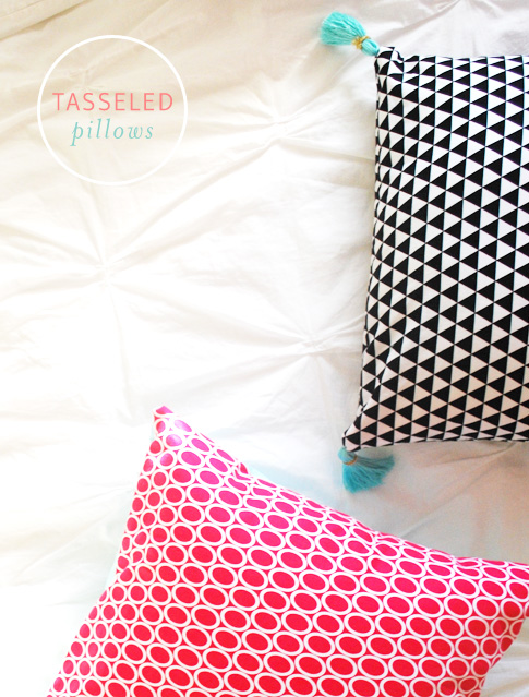 tasseled pillows / ann kelle