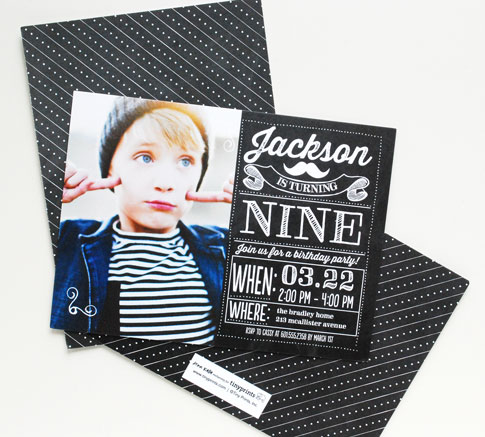 chalkboard birthday invitation ann kelle