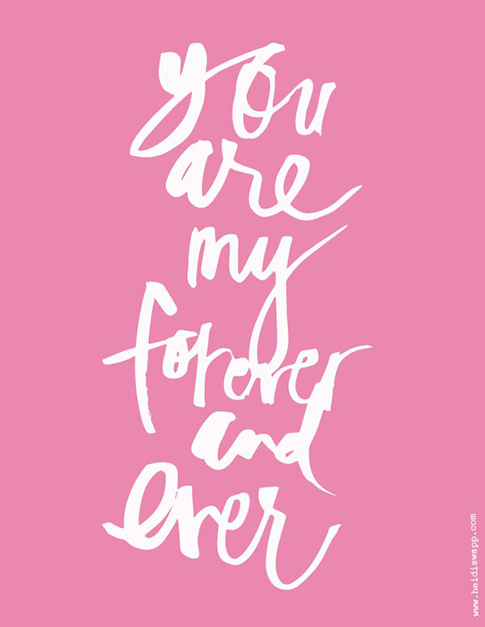 you are my forever and ever