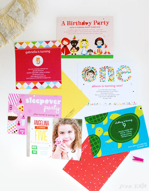 ann kelle birthday party invitation