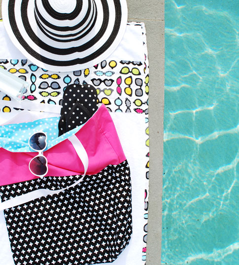 beach towels and bags