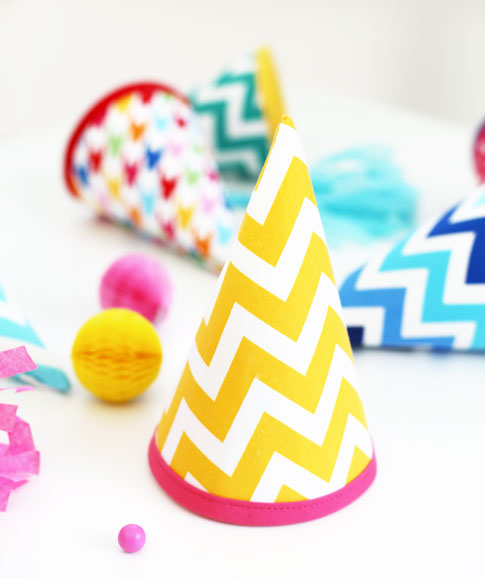 fabric party hat tutorial ann kelle ann kelle