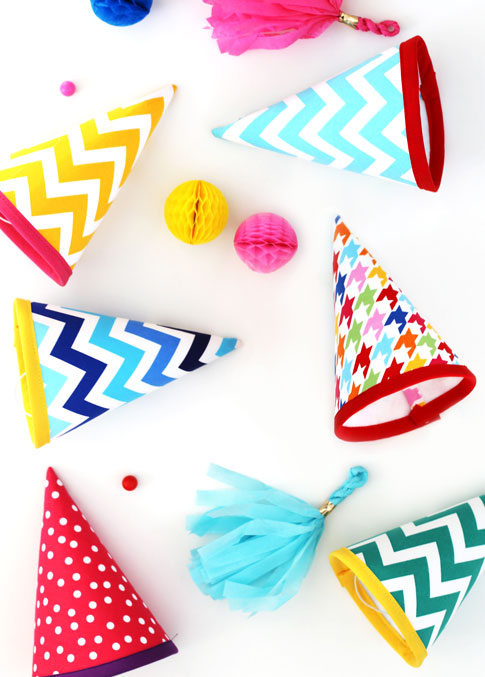 Fabric Party Hat Tutorial  Ann Kelle