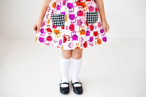ann kelle fabric / geranium dress by made by rae