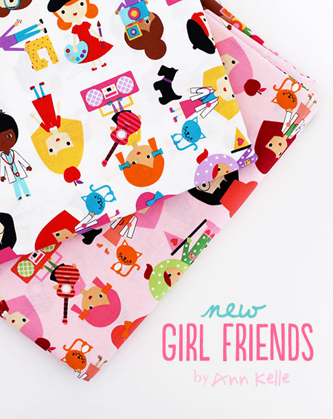 ann kelle / girl friends fabric
