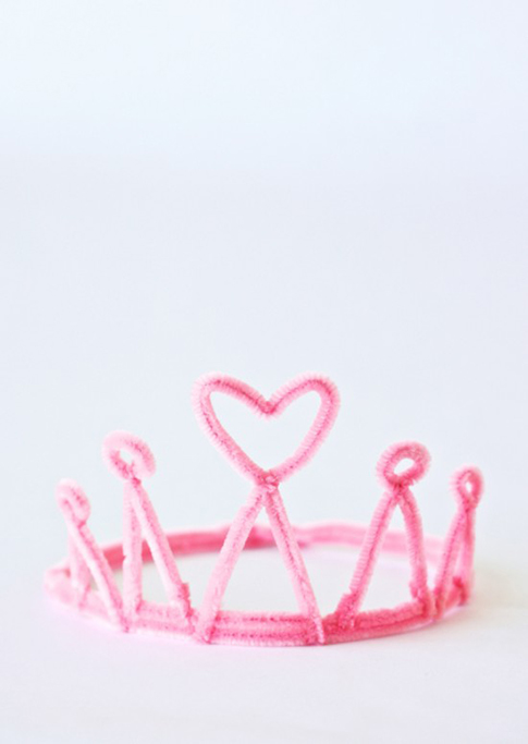Pipe Cleaner Princess Crown