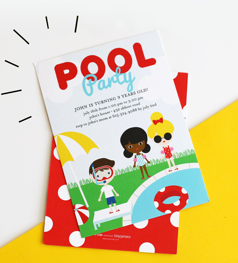 pool party invitation / ann kelle