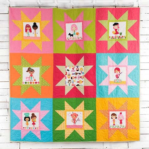 Robert Kaufman Girl Friends Super Stars Quilt