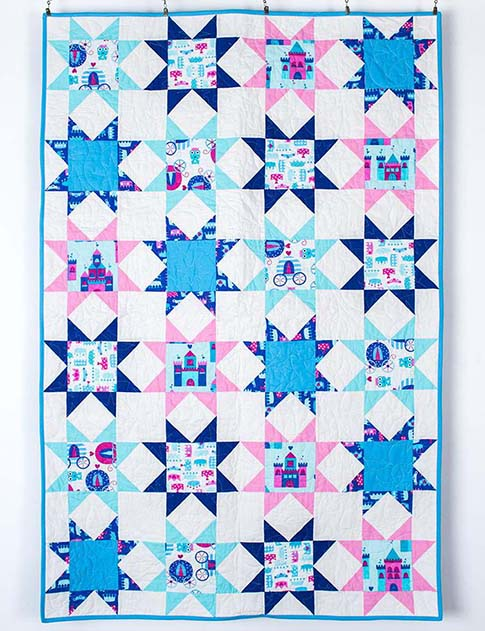 Princess Life Sparkling Throw Quilt Kit / ann kelle fabric