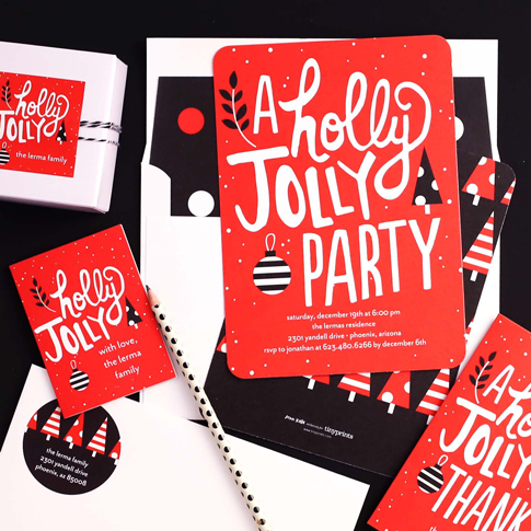 holiday party invitations / ann kelle for tiny prints