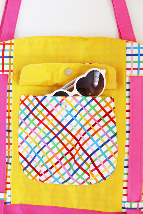 ann kelle fabric / beach tote sewing pattern