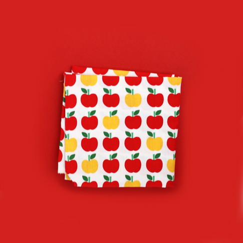 ann kelle back to school fabric / apple fabric