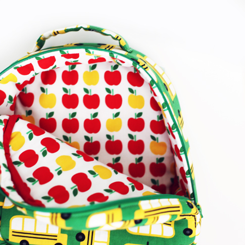 ann kelle back to school fabric / toddler backpack sewing pattern