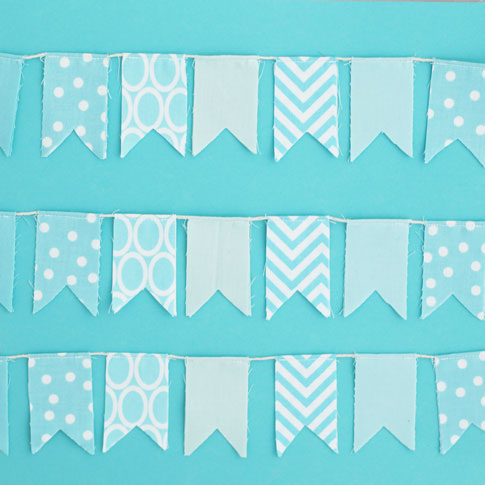 ann kelle mini fabric bunting tutorial