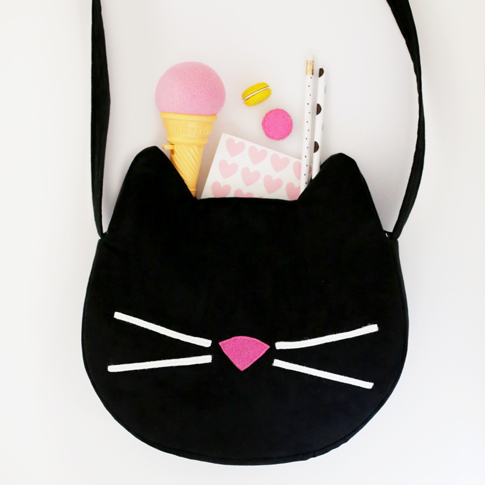 kitty cat purse sewing tutorial / ann kelle fabric