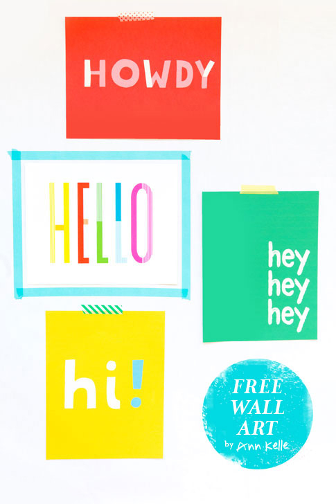 hello artwork by ann kelle / free download / for personal use only