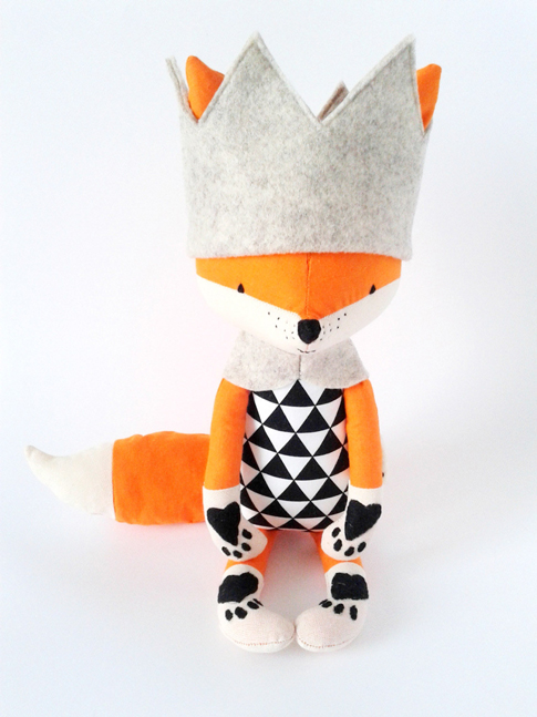 fox stuffed animal / ann kelle fabric