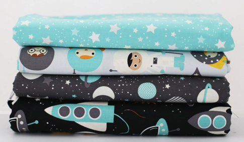 space explorers fabric by ann kelle