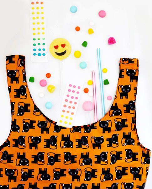 candy corn tote / fabric by ann kelle
