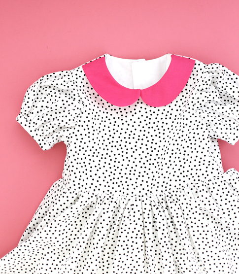 ann kelle dot fabric / toddler dress / fiesta frock dress pattern by blank slate patterns
