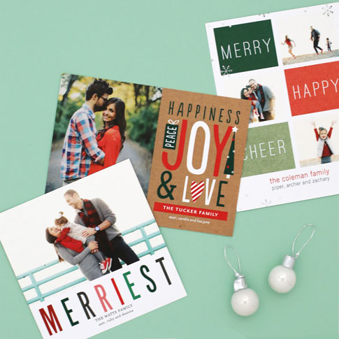 ann kelle for tiny prints christmas personalized photo card