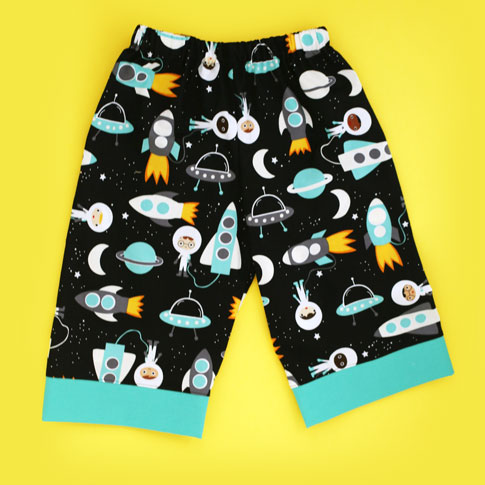 ann kelle space explorers / toddler lounge pant sewing tutorial