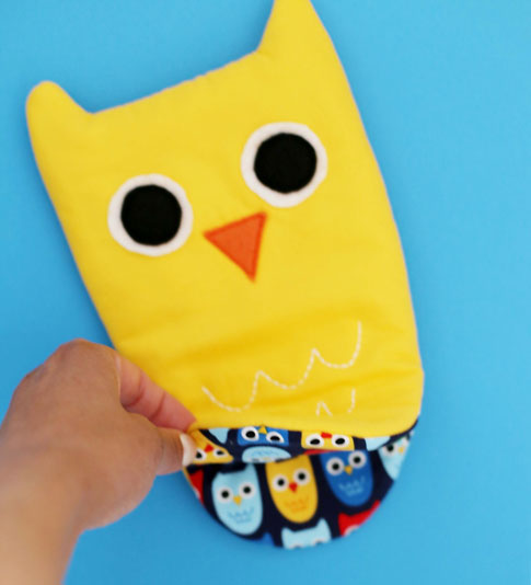 owl oven mitt sewing tutorial / ann kelle